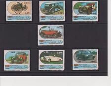Cambodia Mercedes-Benz Automobiles Issue of 1986 Set MNH Scott 684-690