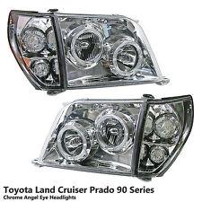 Chrome Projector Headlight Lamp Fit Toyota Land Cruiser Prado FJ90 FJ95 96-02