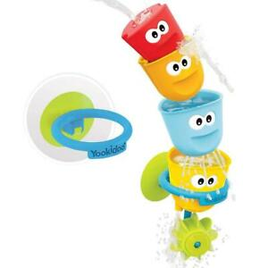 Bath Toys Fill Spill Stackable Cups Kids Toddler Baby Water Wheel Sensory New