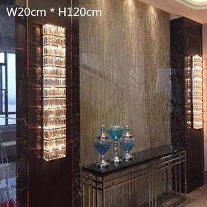 Hallway Large crystal wall Lamp living room modern Led wall light fixtures