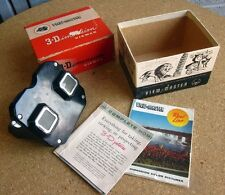 VIEW-MASTER vtg stereoscope 1950s w/ box and instruction manual 3D