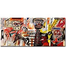 "Jean Michel Basquiat ""Philistines"" HD print on canvas large wall picture 40x24"""