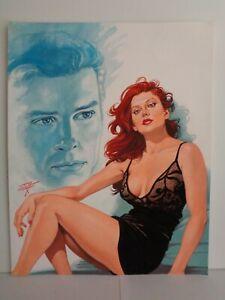 AMORES Y AMANTES # 856, ORIGINAL COVER ART, LUIS REY