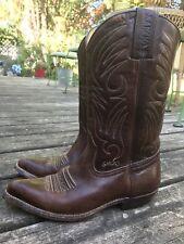 Vintage Sancho Leather Boots Boho Hippie Size 38 ~ Rare 1510-4090