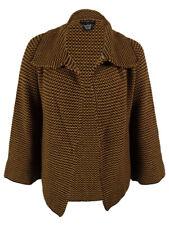 Sutton Studio Women's Birdseye Sweater Jacket PL, Camel/Brown