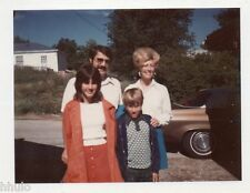 POL620 Polaroid Photo Vintage Original famille voiture pavillon American dream