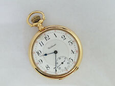 14k Gold Waltham Riverside Maximus Pocket Watch Model  23j