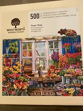 "Wentworth Wooden Puzzles RARE 500 pieces ""Flower Shop"""