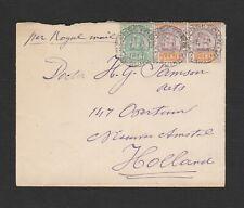 British Guiana 1895 cover per Royal Mail to Holland