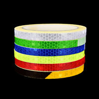 Fluorescent MTB Bike Bicycle Cycling Motorcycle Reflective Stickers Strip Tape L
