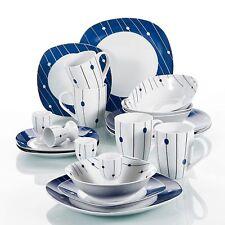 20Pcs Complete Dinner Set Ceramic Plates Dinnerware Crockery Serving Dining Sets