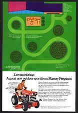 1969 MASSEY-FERGUSON MF 12 Riding Lawn Mower Vintage AD