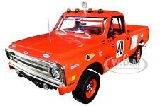 """1969 CHEVROLET C10 BAJA 1000 #40 PICKUP TRUCK RED """"MECUM"""" 1/18 HIGHWAY 61 18007"""