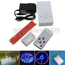 DIY Electronic Clock Rotating LED Flash Kit Remote Control Welding Digital Part