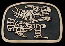 NWC Ceremonial Dancer Design Belt Buckle Solid Bronze Rainbow Metals Brand New!