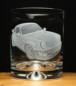 Porsche 911 Turbo engraved glass tumbler gift present
