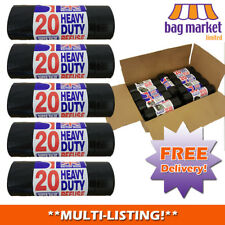 Strong Heavy Duty Black Bin Bags/Sacks!! | Rubbish/Thick/Liners/Refuse/British