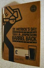 JAMESON ST. PATRICK'S DAY TABLE TALKERS SET OF FIVE BRAND NEW