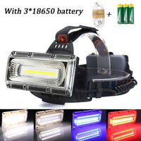 30W LED COB USB Rechargeable 18650 Headlamp Headlight Fishing Torch Flashlight Z