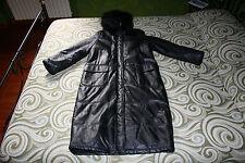 Cappotto giacca jacket coat  in vera pelle con cappuccio in vera pelliccia