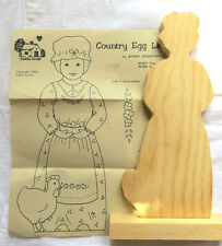 Country Egg Lady Unpainted Wood Surface & Pattern Painting Instructions A8054