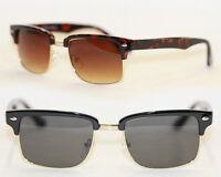 Retro Sonnenbrille 50er Jahre schwarz gold Vintage Brille braun gold 953