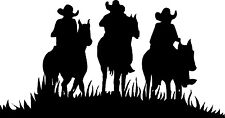 "Cowboys Riding Horses Decals for Car, Truck or Trailer (21"" x 11"")"