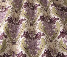 Iliv ART DECO d'acanthe Berry / Heather (William Morris style) rideau / tissu uphol