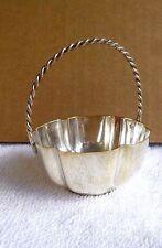 VINTAGE Miniature Decorative Thinket Basket Silver Plate By Trevino Boesch