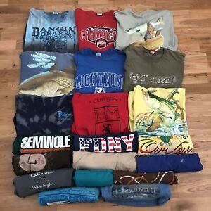 Vintage Lot Of 20 Wholesale 80s 90s 2000s Graphic T-Shirt S M L XL XXL 2XL Usa