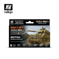 AV Vallejo Model Color Set - WWII British Armour&Infantry  VAL70204