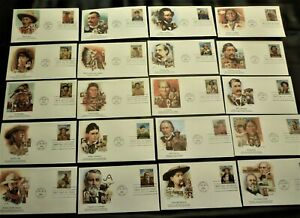 LEGENDS OF THE WEST # 2869 COMPLETE SET 20 DIFF. FLEETWOOD FD COVERS - TUCSON AZ