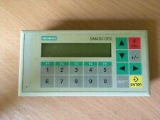 Siemens SIMATIC OP3 6AV3503-1DB10 v2.09 Panel