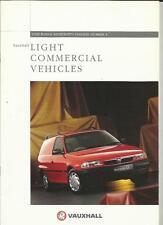 Vauxhall ASTRAVAN, CORSAVAN, Combo, MIDI, Brava Van Camion SALES BROCHURE 1995 1996