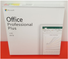 Microsoft Office 2019 Professional Plus Genuine Retail License Key+CD Package