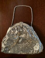 Exceptional Whiting & Davis Silver Mesh Bag Purse With Exquisite Clasp