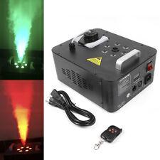 900W Smoke Fog Machine RGB 6LED DMX Vertical Geyser Spray Wireless Remote Fogger