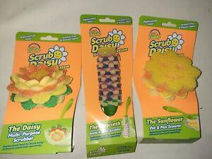 Scrub Daddy Hyacinth Daisy Sunflower Replacement Head for Scrub Daisy DishWand