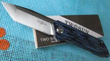 TwoSun Camping Outdoor D2 G10 Ball Bearing Open Folding Pocket Knife TS38-G10