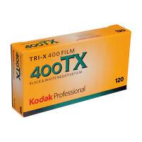 5 PACK Kodak Professional TRI-X 400 TX - 120 Roll - Black and White Print Film