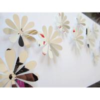 12x3D-Blumenkunst Spiegelwand Aufkleber Wandtattoo DIY Home Zimmer Dekor u