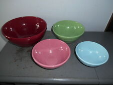 "Vintage 1930's-40""s Bauer? Pottery Ringware/Beehive Nesting/Mixing Bowls Set/4"