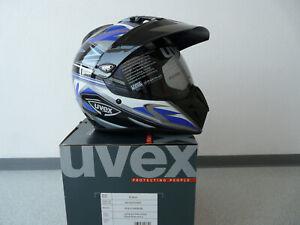 Motorradhelm Integralhelm Crosshelm Uvex Enduro3 in 1 schwarz-blau-shiny Auktion