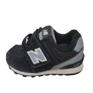 New Balance 574 Baby Shoes Size 4 Black Boys Girls