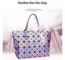 Bao Bao Bag With Logo Geometric Package Tote BaoBao Purple Laser Shoulder Bag