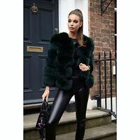 Women's Full Pelt 100% Real (Vulpes)Fox Fur Coat Jacket Overcoat Christmas Gifts