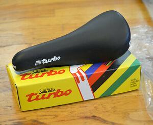 NOS Selle Italia Turbo  Saddle Black Leather NIB