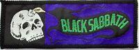 BLACK SABBATH 'skull'  sew on woven  patch, vintage