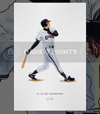 Will Clark San Francisco Giants Baseball Illustrated Print Poster Art