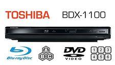 Toshiba MULTI REGION BDX1100 Blu-ray Player ALL REGIONS FREE A B & C DVD 1-6